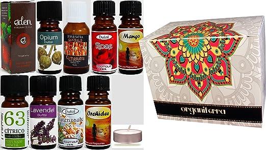 9 Botellas Aceites Esenciales Perfumados Concentrados - Pack 4 ...