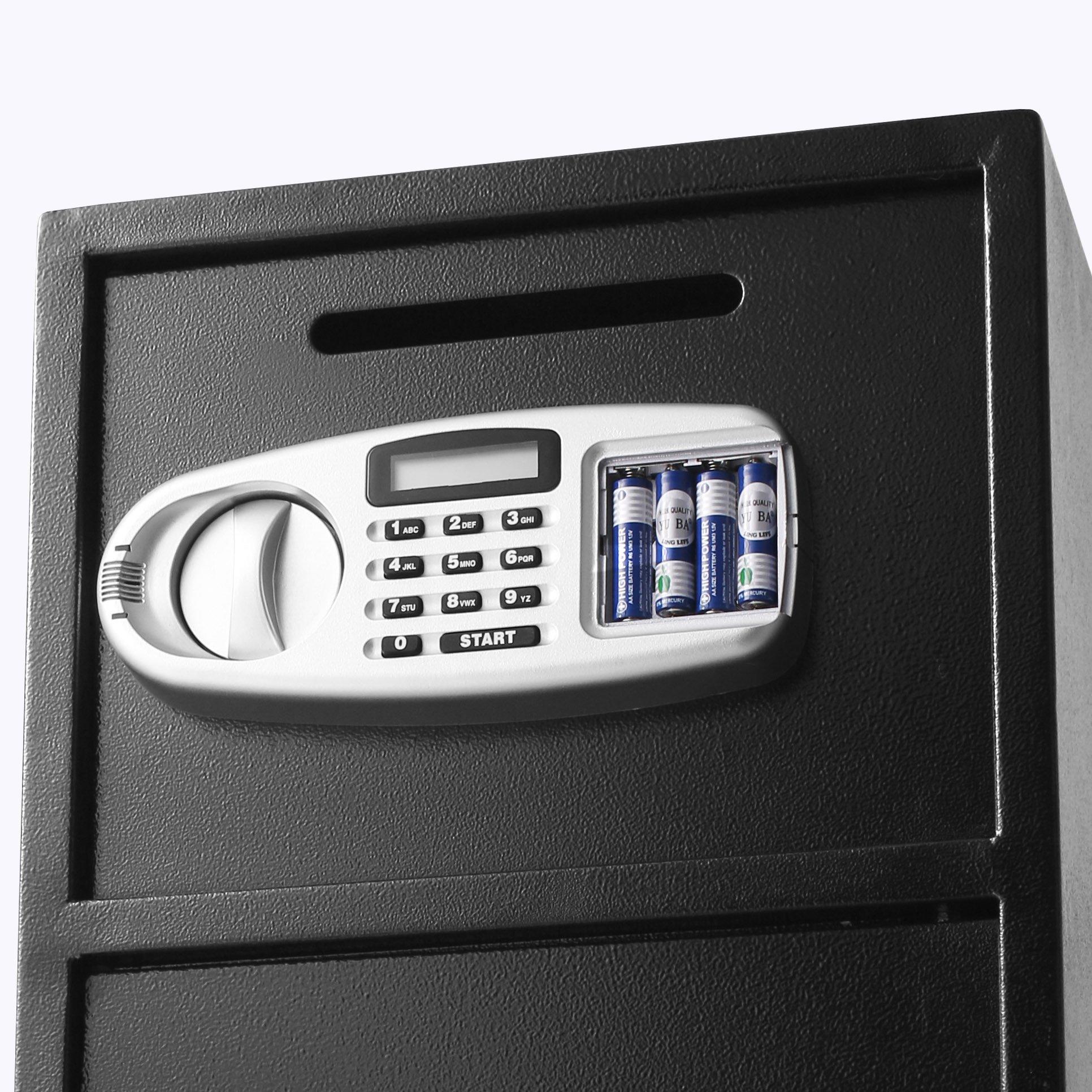 Superland Large Double Door Security Safe Box Depository Safe Steel Safe Box Digital Safe Depository for Money Gun Jewelry (Large Digital Safe Box) by Superland (Image #7)
