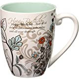 Mark My Words Happy Birthday Mug, 4-3/4-Inch, 20-Ounce Capacity