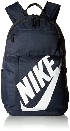 Nike Elmntl Bkpk Mochila, Unisex Adulto, Negro/Blanco/Azul Marino (Obsidian), S: Amazon.es: Deportes y aire libre