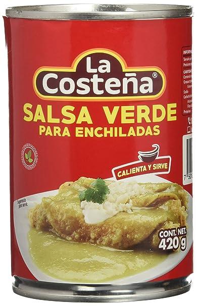 La Costeña Salsa Para Enchiladas Verdes - Paquete de 12 x 420 gr - Total: