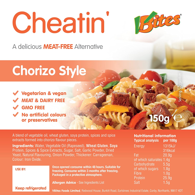 VBites - Redwood Cheatin Chorizo Style Chunks 150 g x 1
