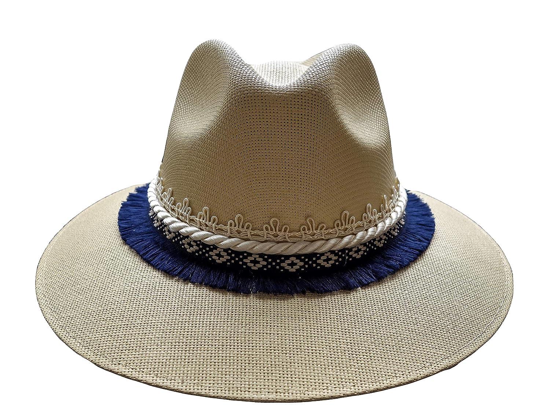856970b140c Amazon.com  Panama style hat embellished by hand