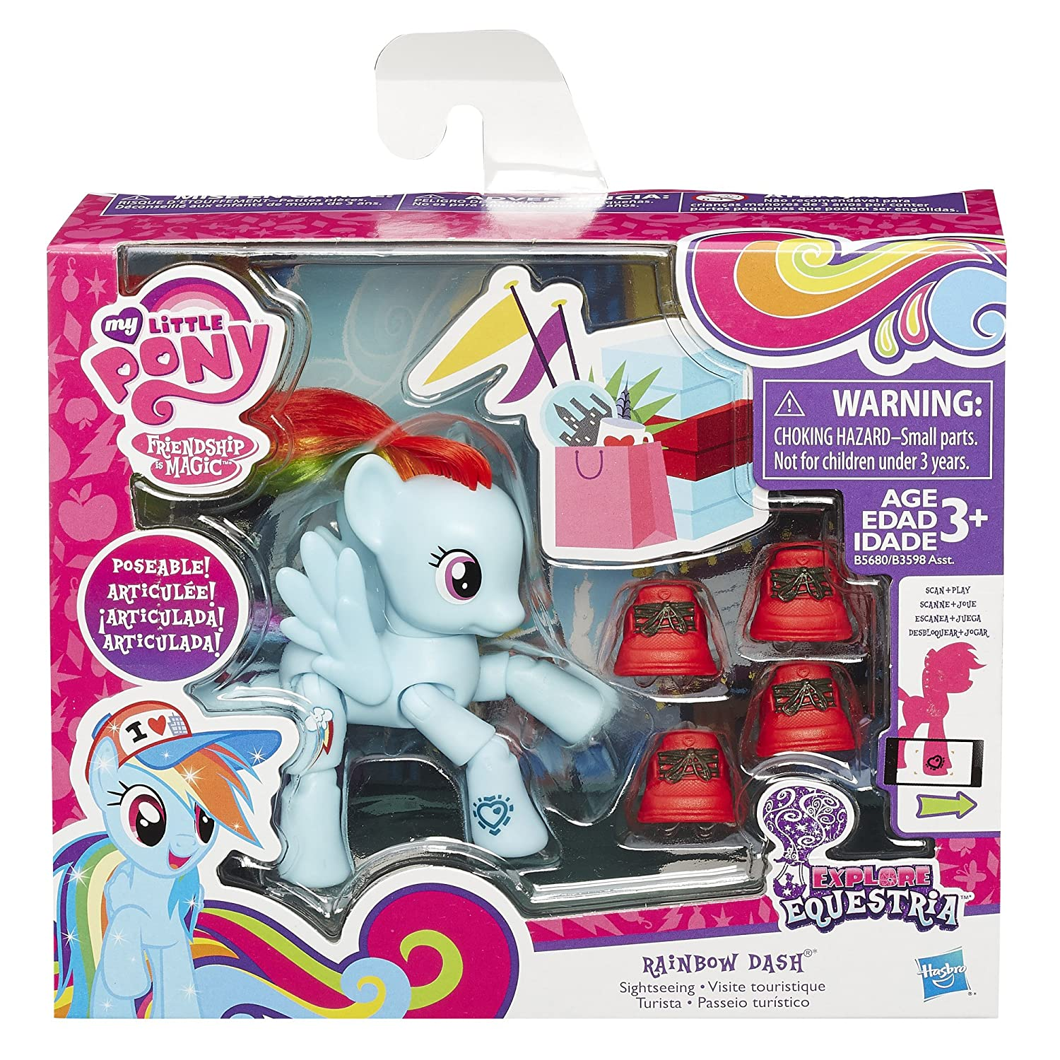 My Little Pony Friendship is Magic Rainbow Dash Sightseeing Figure by My Little Pony