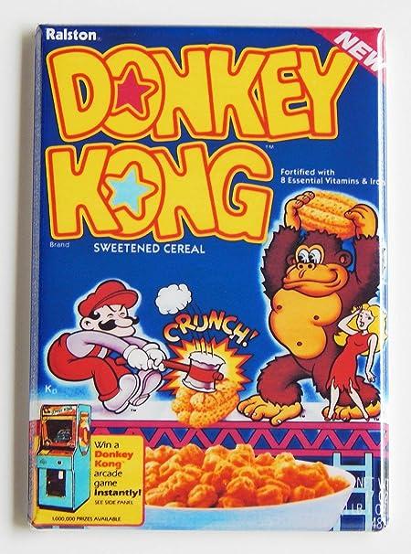 Donkey Kong caja de cereales imán para nevera (2,5 x 3,5 cm): Amazon.es: Hogar