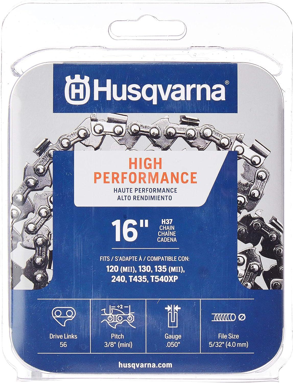 Husqvarna 531300446 16-pulgadas H37-56 (91VG) cadena de sierra Lo-Pro, 3/8-pulgadas por .050-pulgadas