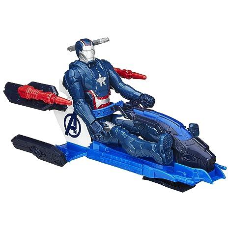 Marvel Avengers Titan héroe de la Serie Iron Patriot Figura con Arco Propulsor Jet Vehículo (