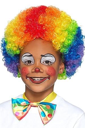 Smiffys Kids Size Circus Clown Peluca rizada del arco iris