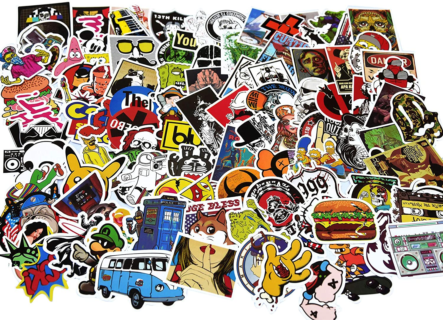 Stickers Decals Vinyls, Family Friendly Sticker, Various Popular, Cute, Classic Theme Stickers 100pcs