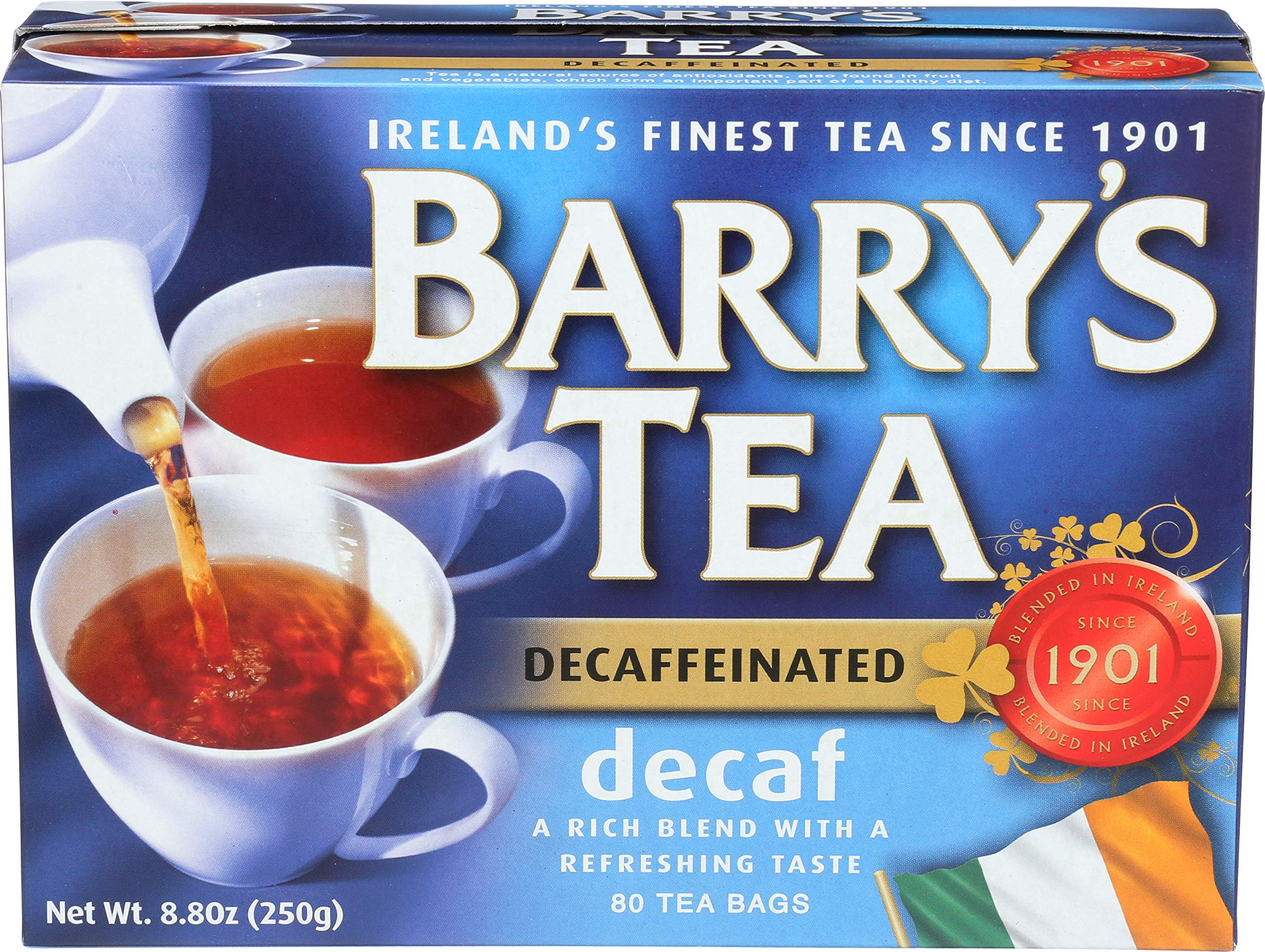 Barry's Tea, Decaffeinated Blend, 80-Count (Pack of 6) by Barry's Tea