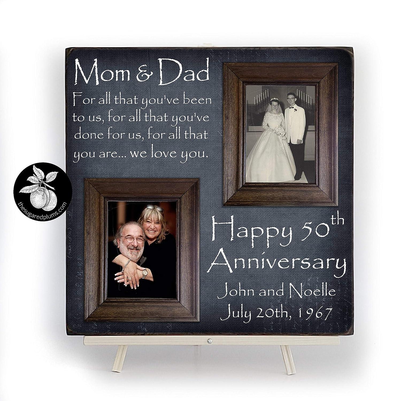 Anniversary Picture Frame Golden Anniversary Gifts for Parents, 50th Anniversary Gifts for Parents