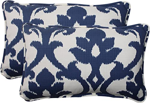 Pillow Perfect Outdoor/Indoor Basalto Navy Lumbar Pillows