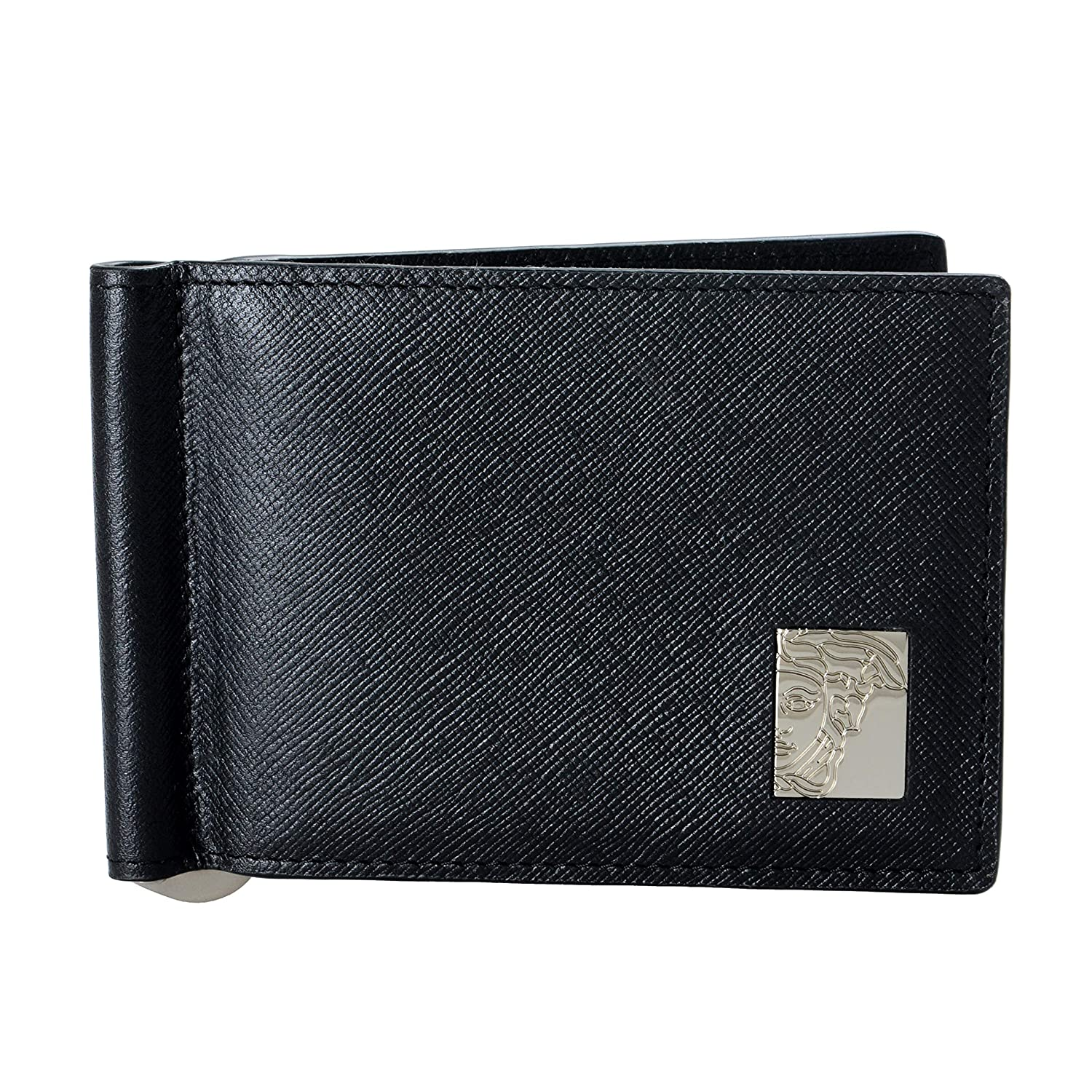 Versace Collection 100/% Leather Black Mens Wallet