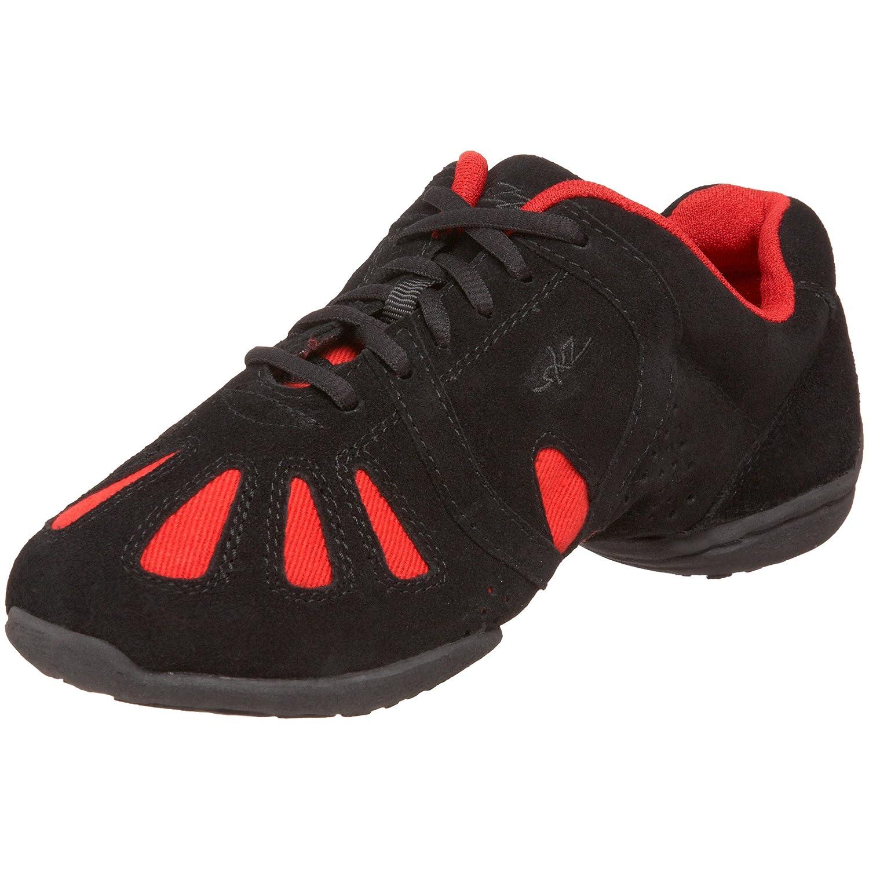 Sansha Dynamo Dance Sneaker B003VWCFS4 14 Sansha (12 M US Women's/9 M US Men's)|Black/Red
