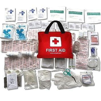 Amazon Com Premium First Aid Kit Trauma Safety Bag 108 Pieces For