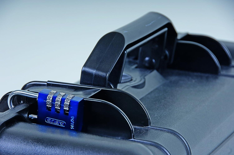 46605 blau ABUS Aluminium-Zahlenschloss 145//20