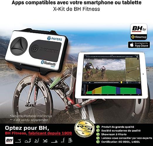 BH Fitness MKT Jet Bike Pro H9162RFFR Bicicleta de Biking. Freno de Embrague. Volante de inercia 22 kg. Transmisión de Correa Poly-V – Gris Plateado: Amazon.es: Deportes y aire libre