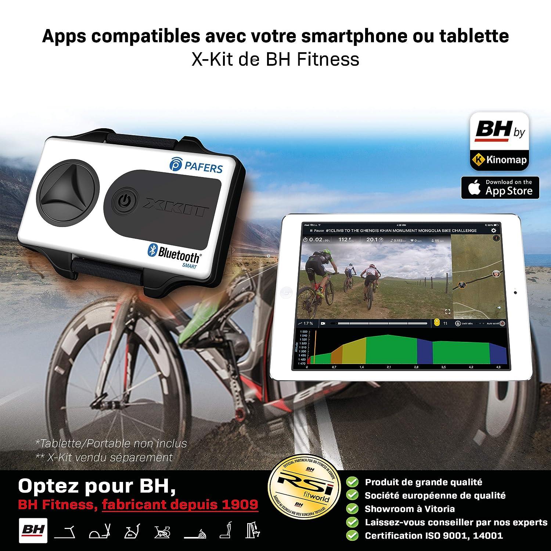 BH Fitness MKT Jet Bike Pro H9162RFFR Bicicleta de Biking Transmisi/ón de Correa Poly-V Freno de Embrague Volante de inercia 22 kg Gris Plateado