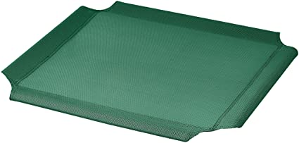 Recambio de cubierta para la cama para mascotas anticalor elevada de AmazonBasics, Extrapequeño, Verde