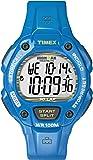 Timex - T5K685SU - Ironman - Montre Homme - Quartz Digital - Cadran Gris - Bracelet Résine Bleu