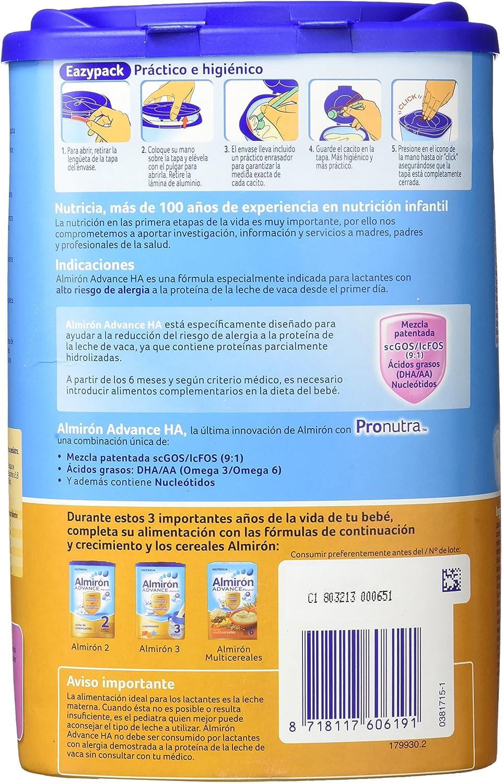 Almirón Advance Leche en Polvo HA, Desde 0 meses - 800 gramos ...