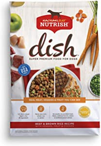 Rachael Ray Nutrish Dish Premium Natural Dry Dog Food, Beef & Brown Rice Recipe with Veggies, Fruit & Chicken, 3.75 Pounds