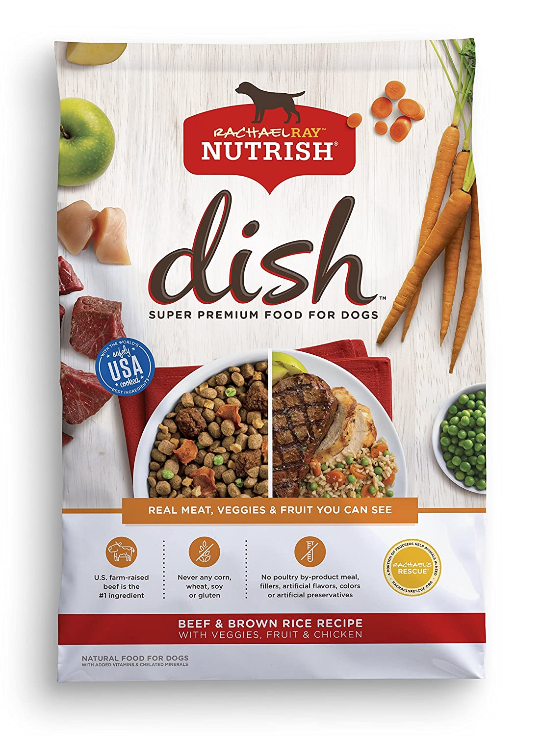11.5 lb Rachael   Nutish Dish Natural Dry Dog Food, Beef -, Brown Rice Rice Rice Rice con Vegeties, Fruit &UG  cken, 11.5 lbs