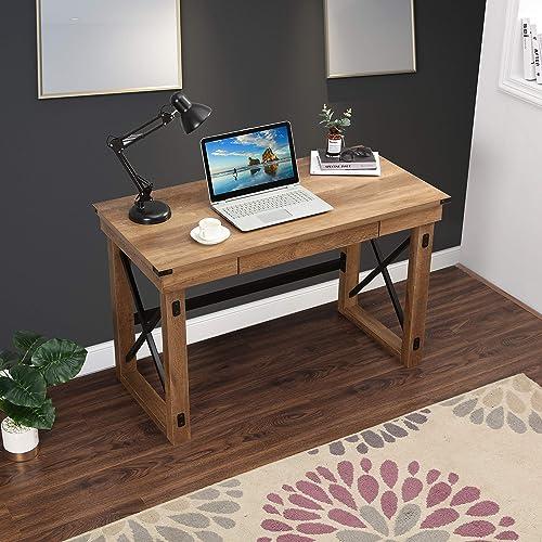 LOKATSE HOME Rustic Furniture Sturdy Modern Computer Table