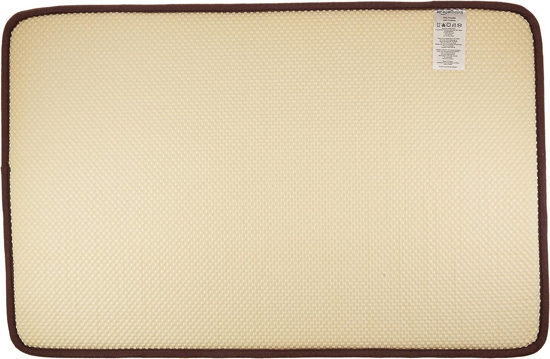 Basics Tapis de bain en mousse /à m/émoire de forme Marron fonc/é 46 x 71 cm