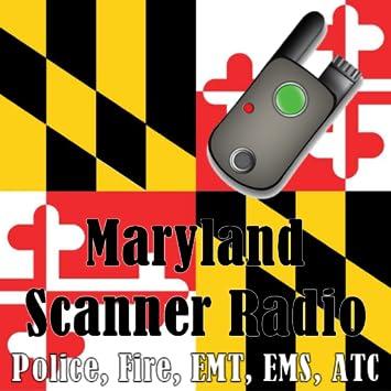 Amazon com: Maryland Scanner Radio - Police, Fire, EMS