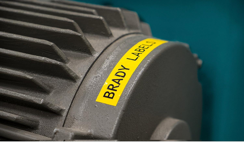 30ft. Brady XC-750-595-YL-BK IDXPERT /& LABXPERT Labels  B-595 Indoor//Outdoor Vinyl Film Black on Yellow //Cartridge Printable Area: 19.000 W x 0.750 H  1 roll