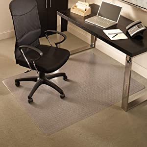 "ES Robbins Everlife Carpet ChairMat Medium Pile 60""x72"" Rectangle Clear"