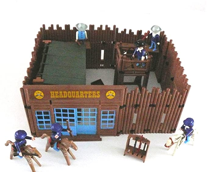 Playmobil Western Fort Headquater With Lots Of Accessories