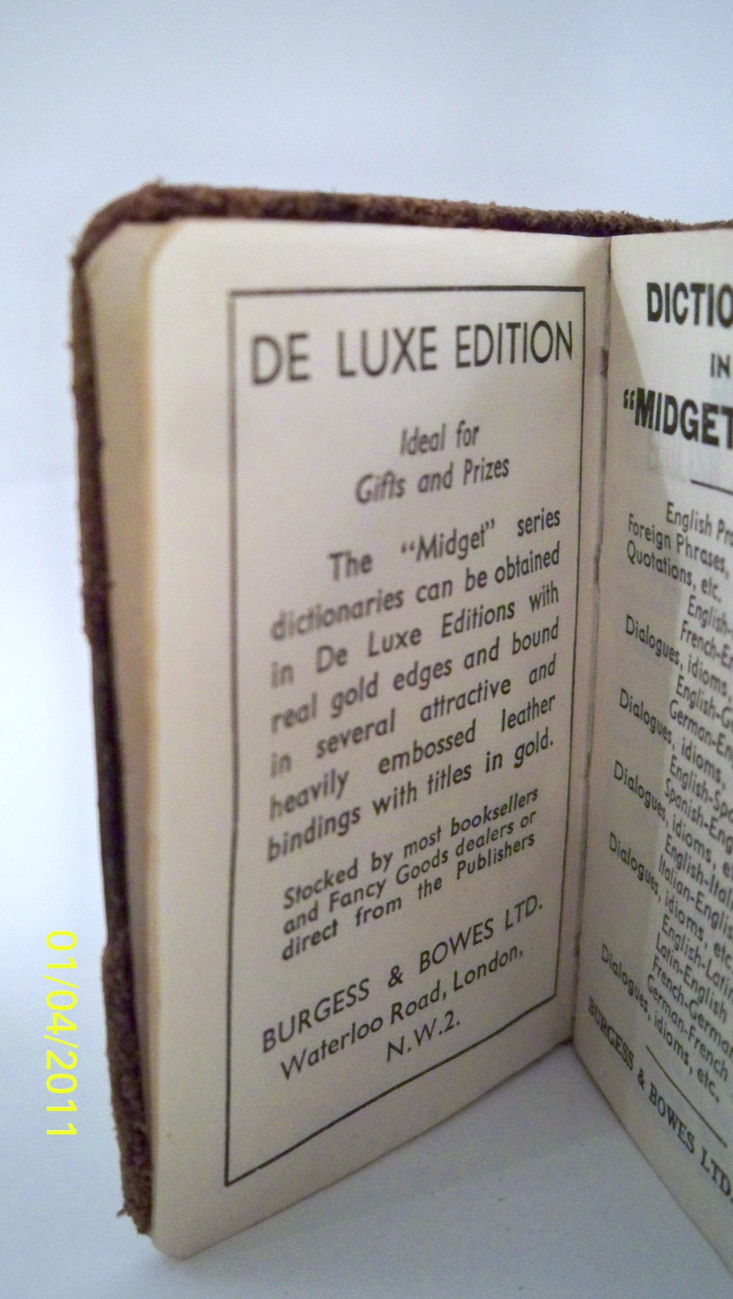 Midget english dictionary