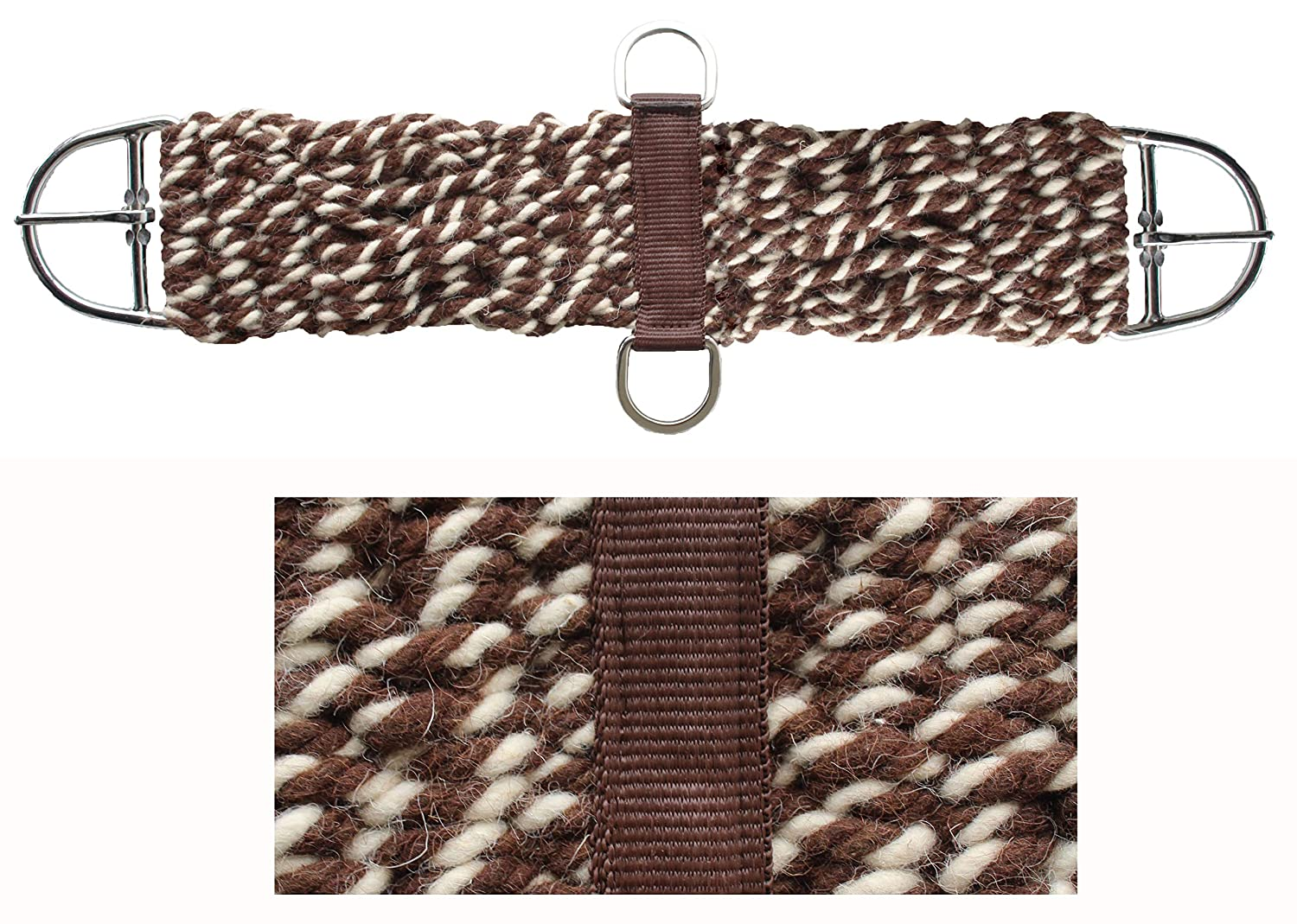 CHALLENGER 30 Horse Western Tack Two-Toned Mohair Wool Breathable Saddle Girth Cinch 97RT03-30