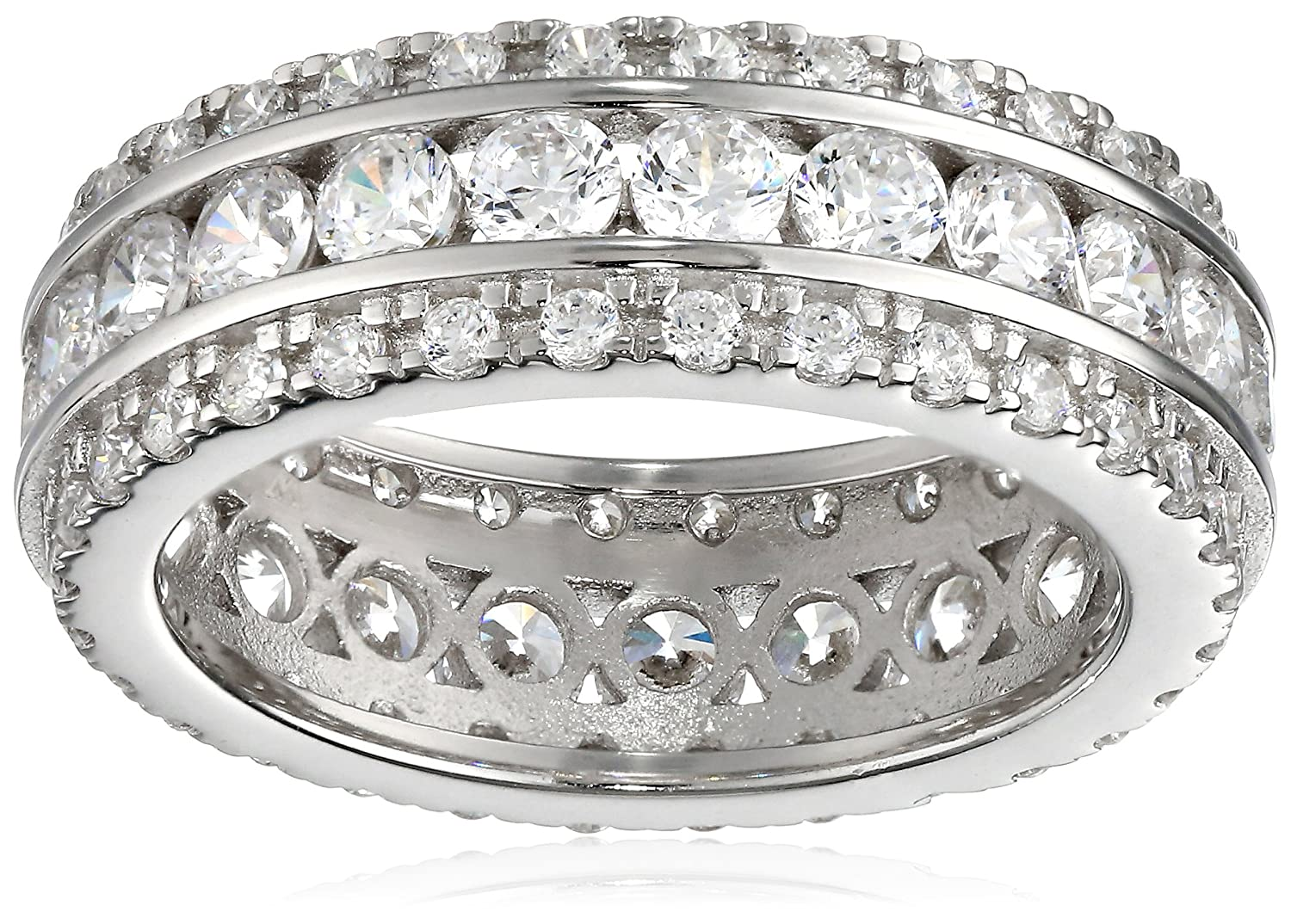 Charles Winston, Sterling Silver, Cubic Zirconia Band, 2.50 ct. tw. Cubic Zirconia Band Size 6 RG1964v1-6