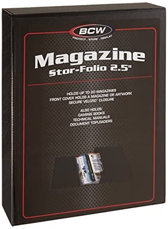 BCW 2.5 Inch Magazine Manual Size Black Stor-Folio Drop Back Box Document