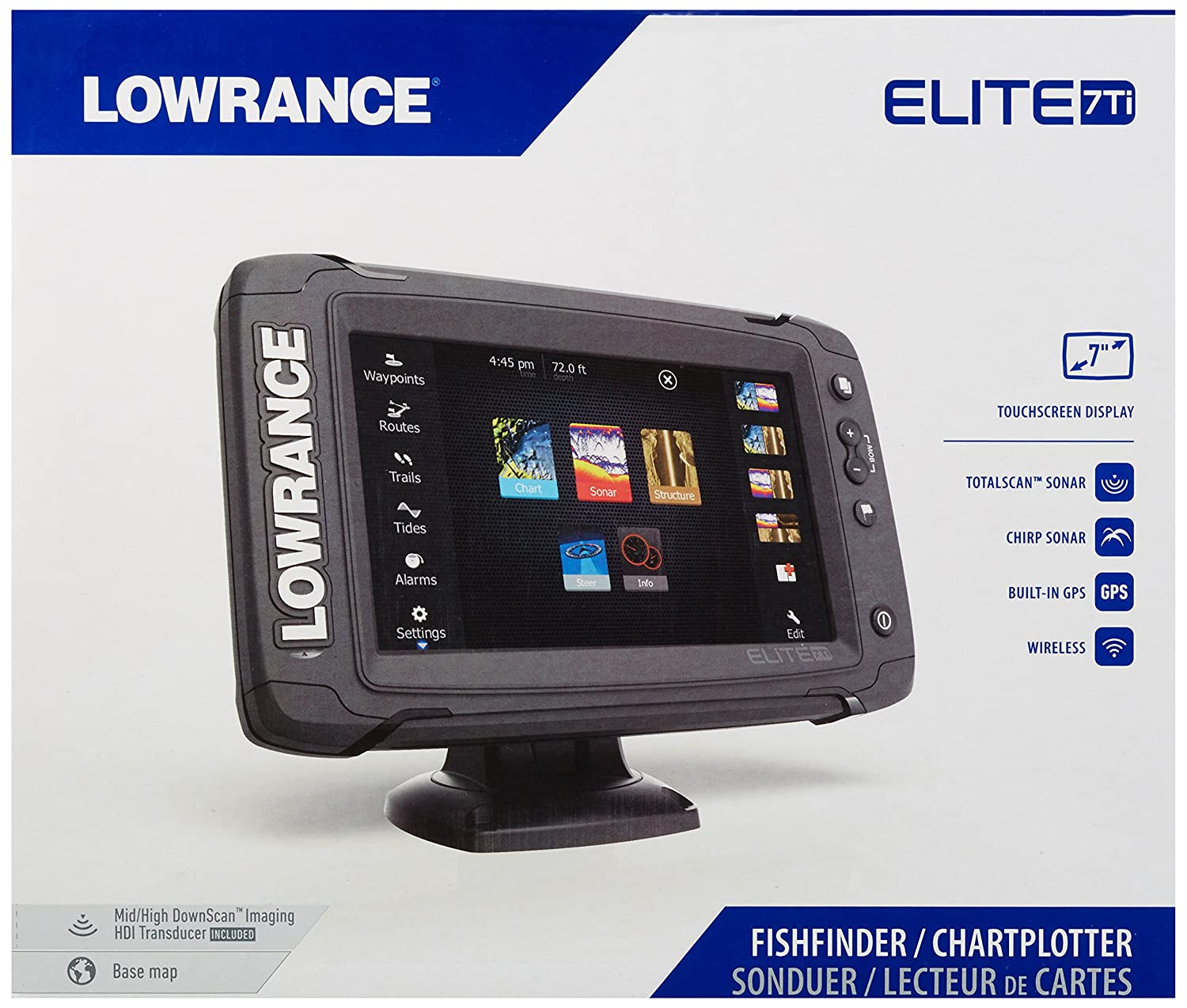 Lowrance Elite-7 Ti - fish finders