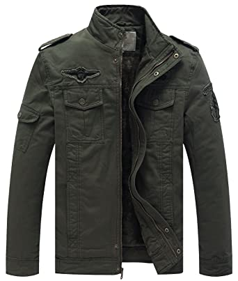 WenVen Men s Winter Military Style Air Force Jacket at Amazon Men s ... f634e3a50e52
