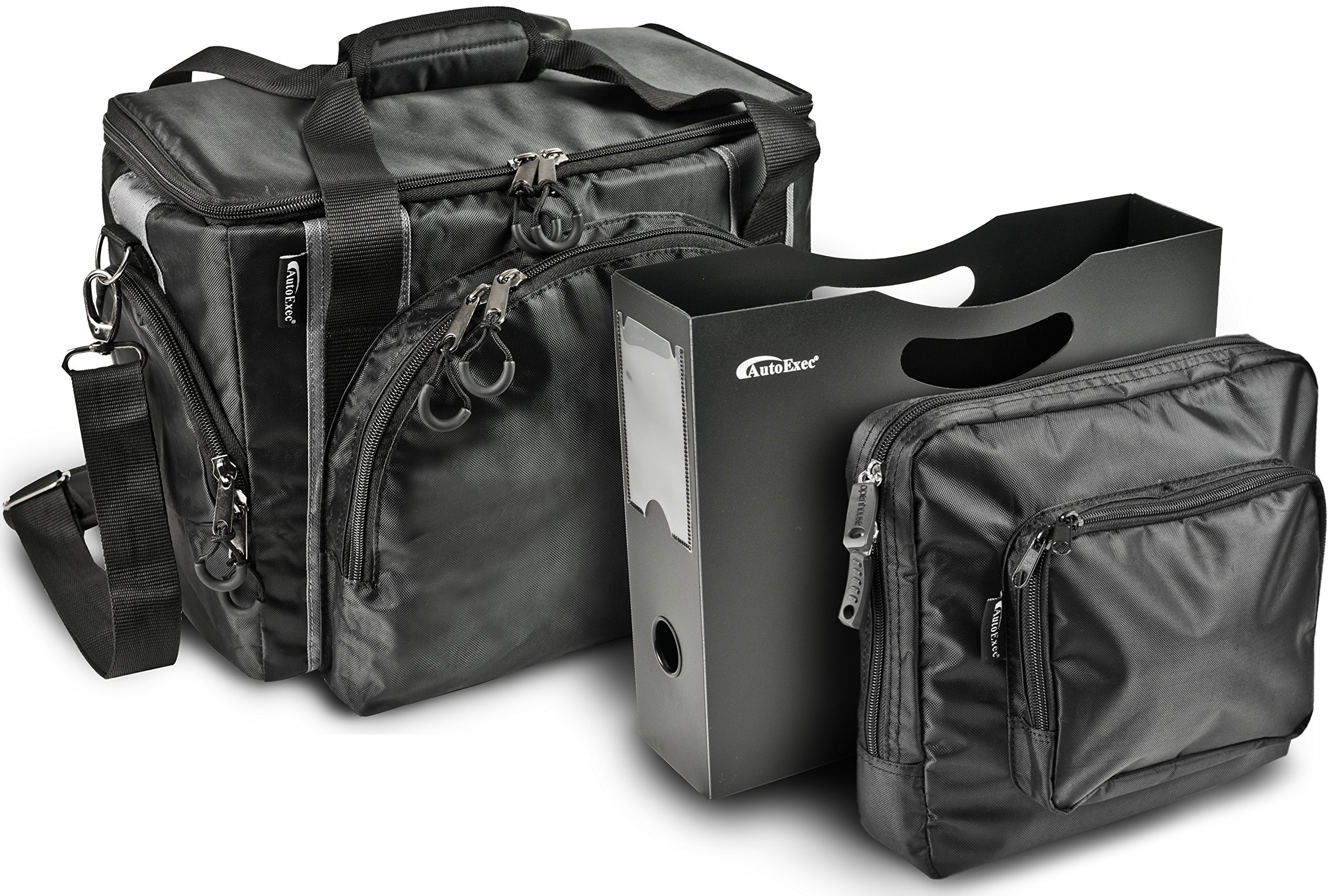 AutoExec BusinessCase-06 Black/Grey Business Case with One Tablet Case and One Hanging File Holder