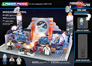 Laser Pegs Mission Control Light Up Building Kit (400Piece)