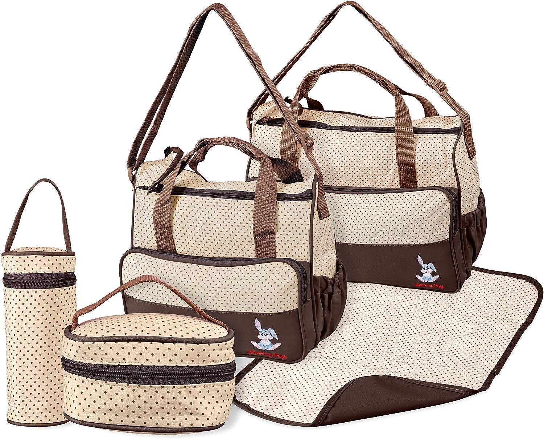 Khaki Mummy Hug/® Multi-Function Baby Diaper Nappy Bag//Mummy Changing Set Handbag