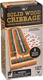 Cardinal Industries Solid Wood Folding Cribbage Set (Styles Will Vary)