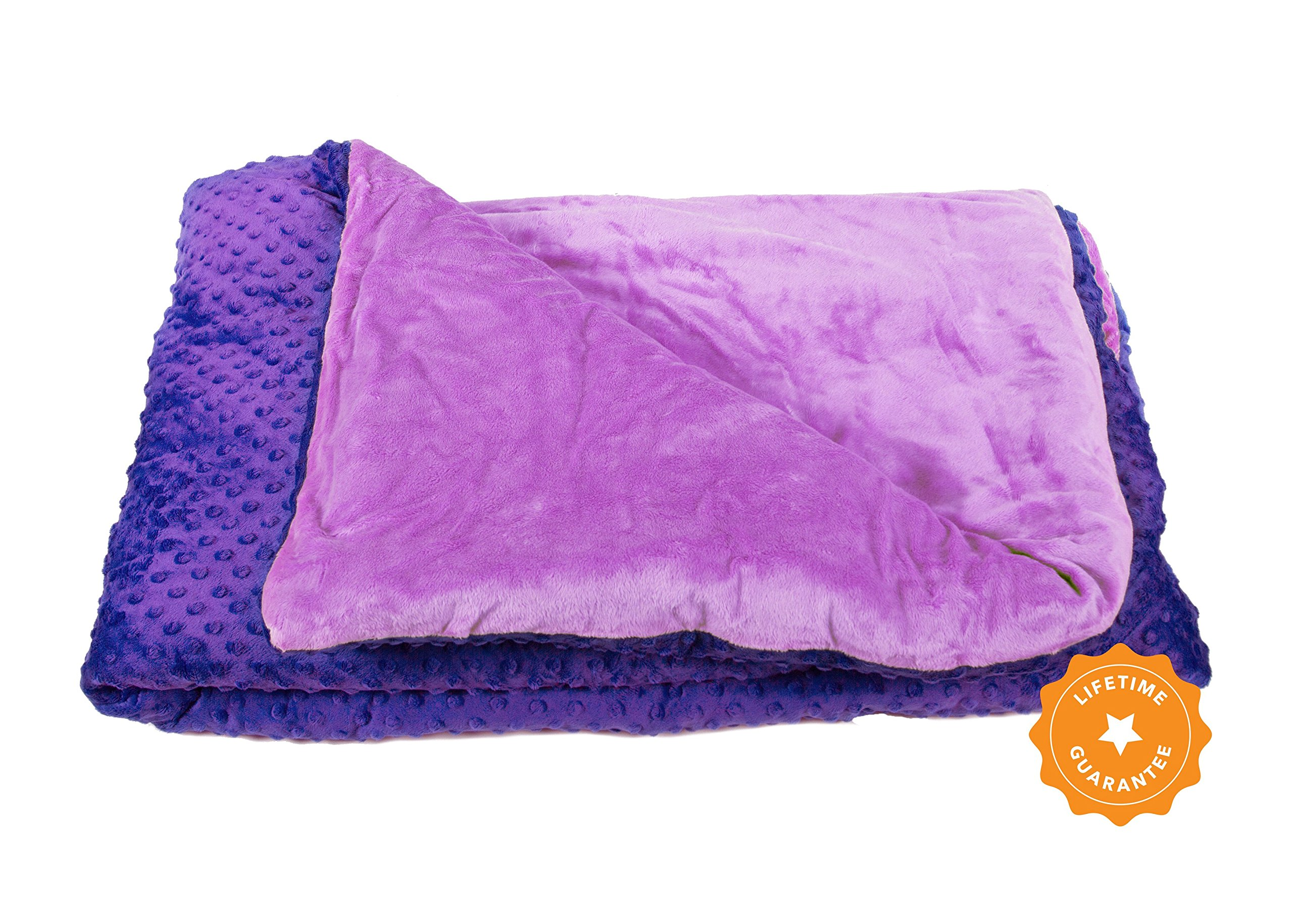 25lb Weighted Blanket for Autism & Anxiety - Great for Sensory Processing Disorder - Perfect for those who weigh 200+lbs - The First Blanket with Cotton and PolyPellets by Harkla
