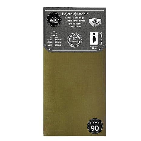 ADP Home - Bajera ajustable (para cama de 90 cm), verde oliva
