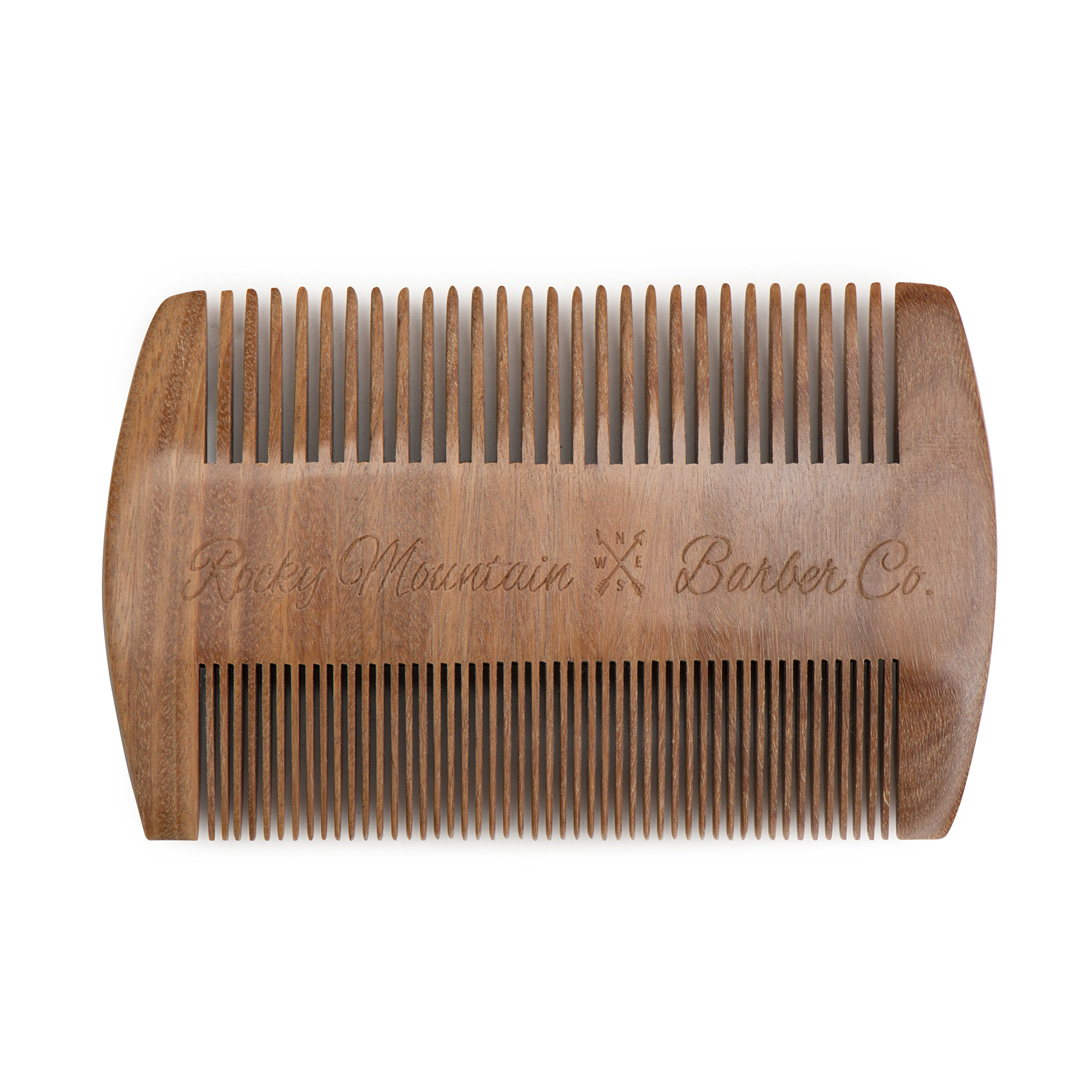 Beard Comb - Natural Sandalwood for Hair with Scented Fragrance Smell with Anti-Static - Handmade Fine Tooth Brush Best for Beard Moustache Packaged in Giftbox by Rocky Mountain Barber Company (Image #9)