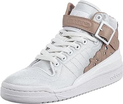 adidas Forum mid kawaii w - Zapatillas de deporte de cuero para mujer Blanco Blanc et marron 40: Amazon.es: Zapatos y complementos