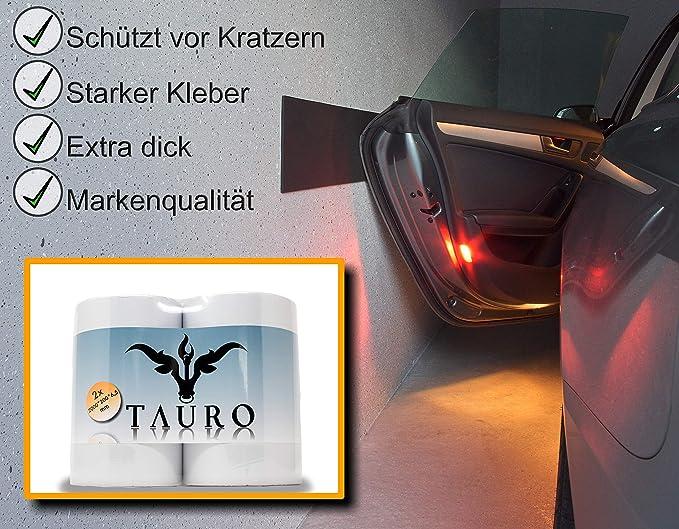 2m*20cm*6,5mm kinderleichte Montage Schwarz Garagen Wandschutz 2er Pack extra dick und selbstklebend Tauro Auto T/ürkantenschutz f/ür die Garage