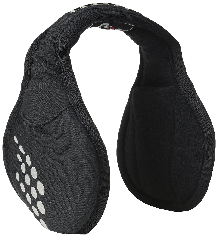 180`s Ohrenschützer Ohrwärmer in Polar Fleece mit LED Beleuchtung für Sport, Fitness, Skifahren, Radfahren, Laufen - Schwarz