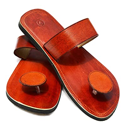 ba318651461 Handcrafted Luxury Men s Rajasthani Leather Slippers Brown ...